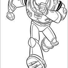 Buzz correndo