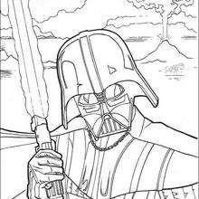 Darth Vader lutando