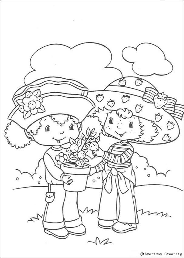 Moranguinho com sua amiga Laranjinha