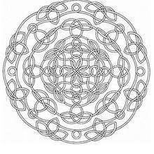 Lindo Mandala de cordas para colorir