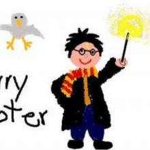 Harry Potter e sua varinha mágica