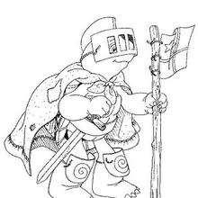 Desenho do Franklin de cavaleiro para colorir