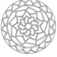 Desenho de um Mandala redondo para colorir