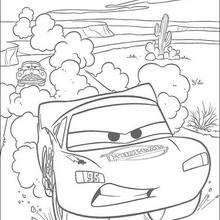 Carros: O Relâmpago Mc Queen acelerando