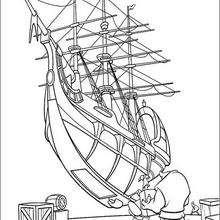 A preparaçao do navio Hispaniola