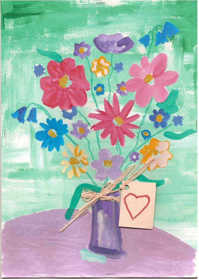 Flores lindas para mamãe