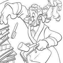 Dr. Delbert Doppler e Jim em ação, colorindo