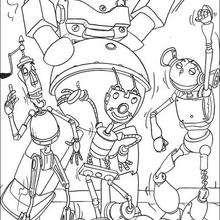 Robôs dançando