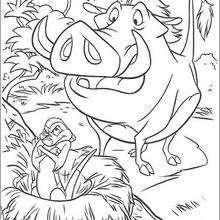 Timon furioso com o Pumba