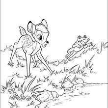 Bambi com o sapo no rio