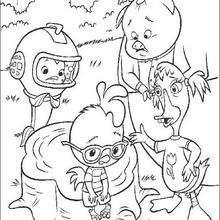 Colorindo o Galinho Chicken Little e seus amiguinhos GRATIS