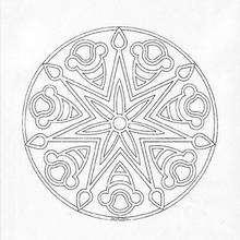 Mandala como um floco de neve