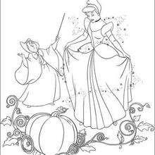 Cinderela com a Fada Madrinha