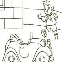 Noddy e seu pequeno carro