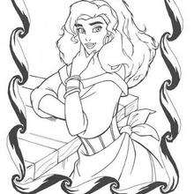 O retrato da Esmeralda para colorir