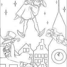 Peter Pan e as crianças Darling