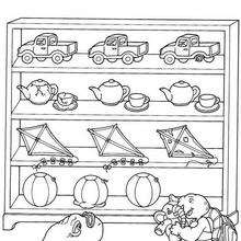 Desenho do Franklin com brinquedos para colorir