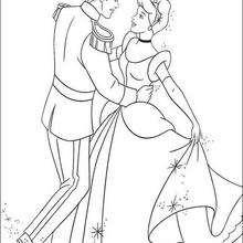 Cinderela dançando com o Príncipe encantado