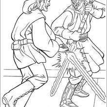 Jedi Qui-Gon Jinn lutando contra o poderoso Darth Maul
