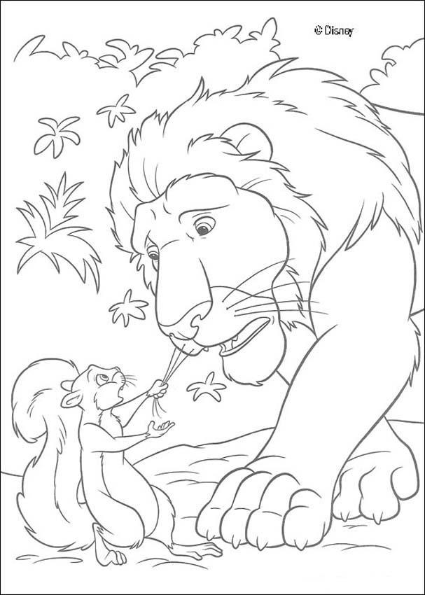 Desenhos Para Colorir De Colorindo O Esquilo Puxando Sansao Pelo