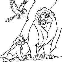 Mufasa, Simba e Zazu