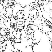 Desenho dos amigos do Franklin para colorir