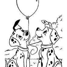 Filhotinhos com balões