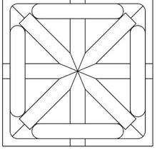 Desenho de um Mandala de estrela para colorir