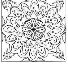 Grande Mandala com FLOR para colorir