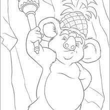 Colorindo o Koala fantasiado