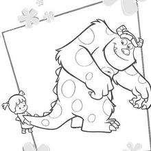 O adorável Sulley brincando com a Boo