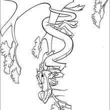 O dragão Mushu na floresta