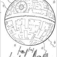 Desenho da estação espacial Estrela da Morte para colorir