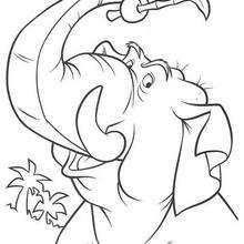 Colorindo o elefante brincando GRATIS