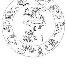 Colorindo Mandala do gasparzinho na torre