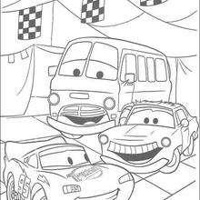 Carros antes da corrida