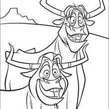 Colorindo as vacas sendo roubadas