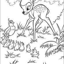 Bambi com os passarinhos