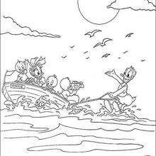 O Pato Donald fazendo esqui-aquático