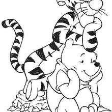 O Urso Puff com seu super amigo, o Tigrão