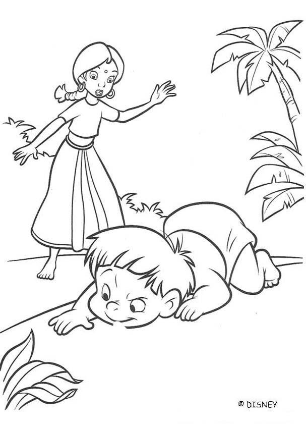 Desenhos Para Colorir De A Menina E O Bebe Na Floresta Para