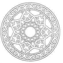 Mandala para imprimir e colorir de graça