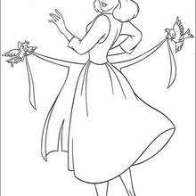 Cinderela se vestindo