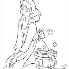 Cinderela limpando a casa