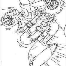 Desenho do Rodney tocando saxofone para colorir