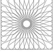 Lindo Mandala de FLOR para colorir