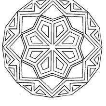 Mandala com formas geométricas para colorir