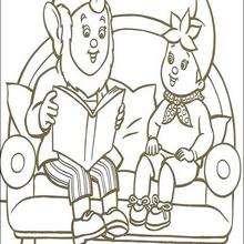 Noddy lendo um livro com Orelhas