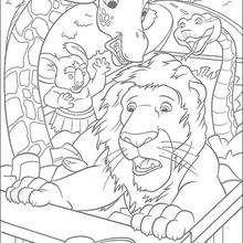 Sansão e seus amigos a caminho da selva