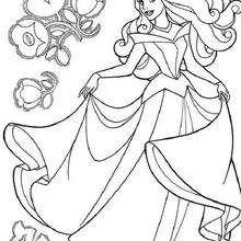 A princesa Aurora dançando